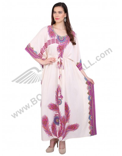 Long Satin Silk Caftan 1