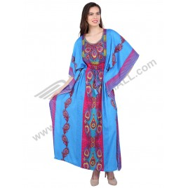 Long Satin Silk Caftan 2