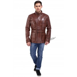 Belstaff long jacket with belt