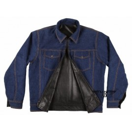 Reversible Leather/Denim Jacket