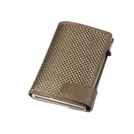 Titanium Card Holder with bank notes.