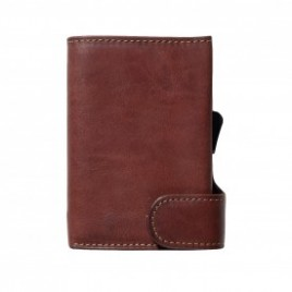VEGETABLE LEATHER WALLET WITH COIN PURSE