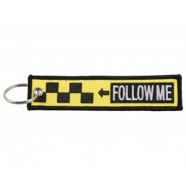FOLLOW ME EMBROIDERED BAG TAG
