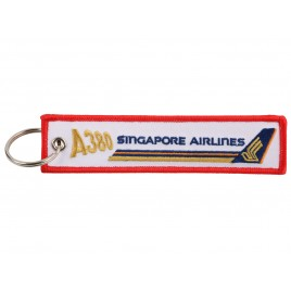 SINGAPORE EMBROIDERED BAG TAG