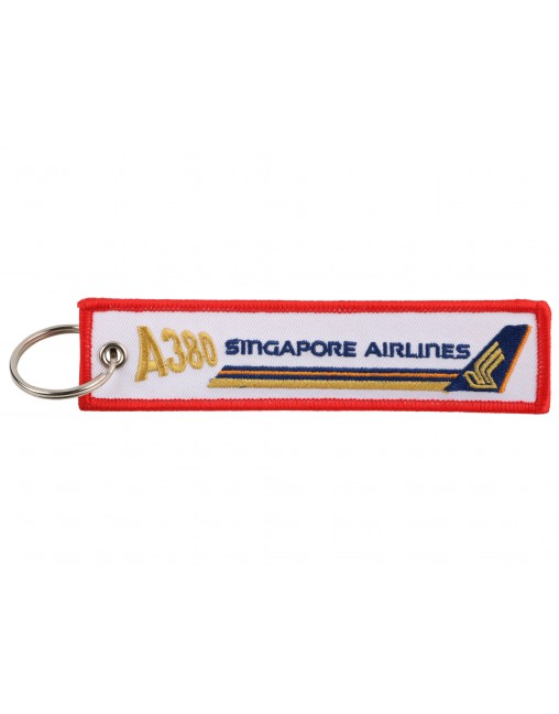 CAPTAIN EMBROIDERED CUSTOM NAME LUGGAGE TAG KEYCHAIN REMOVE BEFORE FLIGHT CREW