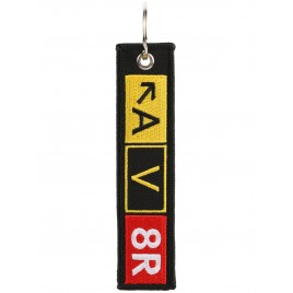 AV8R EMBROIDERED BAG TAG