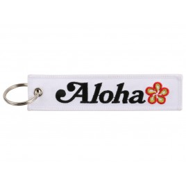 ALOHA EMBROIDERED BAG TAG