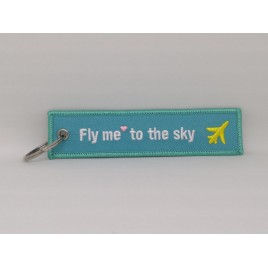 FLY ME TO THE SKY EMBROIDERED BAG TAG