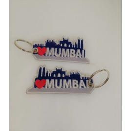 I LOVE MUMBAI EMBROIDED BAG TAG
