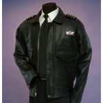 Mens Flight Uniform Leather Jacket