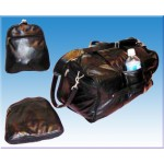 Folding Leather Duffel Bag - Gym Bag