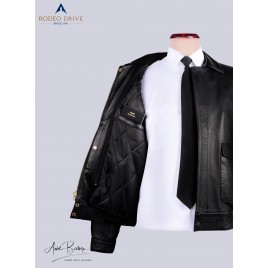 Womens FedEx Leather Jacket with Zip-Out Torso Thinsulate Liner