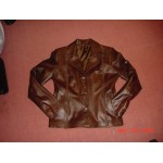 3 Buttons Womens Leather Blazer / Jacket