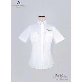 POLYCOTTON CUSTOM PILOT SHIRT WOMEN