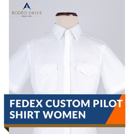 WOMEN CUSTOM FEDEX PILOT SHIRT