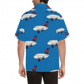 A 320 MOTHER D LIGHT BLUE HAWAIIAN SHIRT