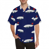 A 320 MOTHER D NAVY BLUE HAWAIIAN SHIRT