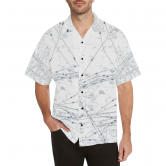 PACIFIC HIGH ENROUTE HAWIIAN CHART HAWAIIAN SHIRT