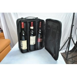 Collapsible Leather Wine Bag