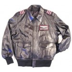 A - A Airline Flight Pilot Uniform Leather Jacket