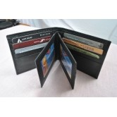 Mens Leather Wallet with 3 ID Slots