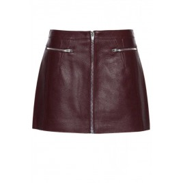 Cow Leather Mini Skirt