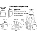 Folding Tote/Gym bag