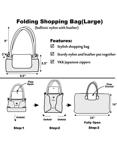 Folding Shopping Bag (Large)