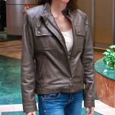Buckle Biker - Womens Leather Jacket