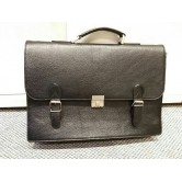 Leather Laptop Bag - 2 Buckles